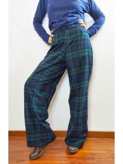 Pantaloni Tartan Blu Verde